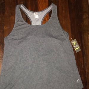 NWT Old Navy Go-Dry Racerback Active Gray Tank Top
